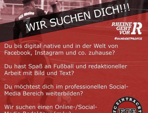 Wir suchen einen Online-/Social-Media Redakteur (m/w)