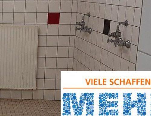 """""""Viele schaffen mehr"""" in der Jugendabteilung – Sanierung der Duschen im VR Bank Stadion Uhlenhook"""
