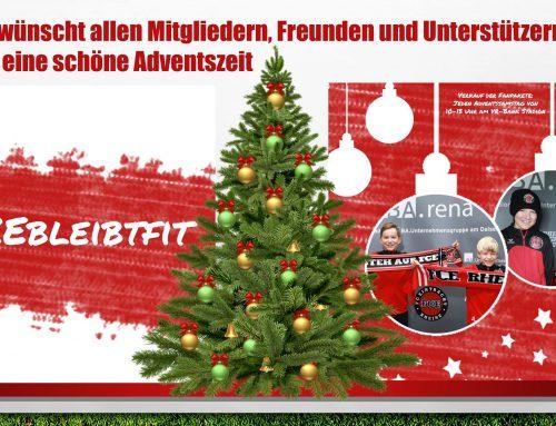 Der FCE wünscht allen Mitgliedern, Freunden und Unterstützern des Vereins eine schöne Adventszeit