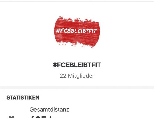 #FCEbleibtfit – die ersten 600 Kilometer sind geknackt.