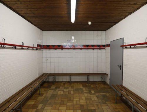 Neuer Kabinenanstrich im Volksbank Stadion