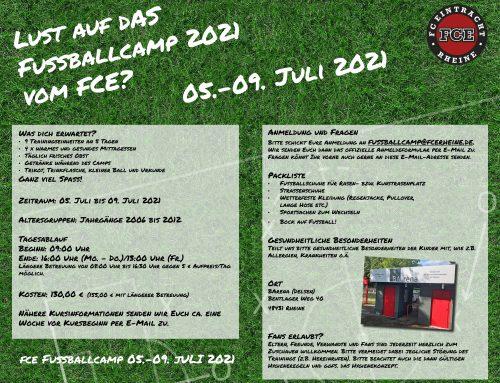 Lust auf das Fussballcamp 2021 vom FC Eintracht Rheine?