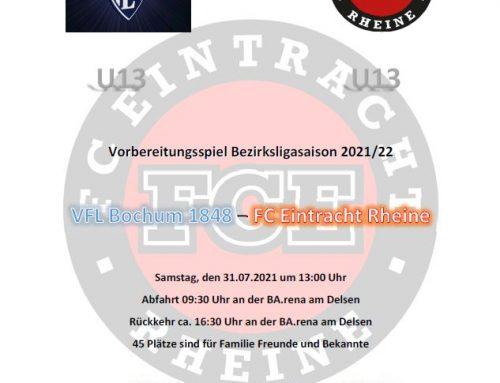 Saisonvorbereitungsspiel der U13 beim VFL Bochum1848