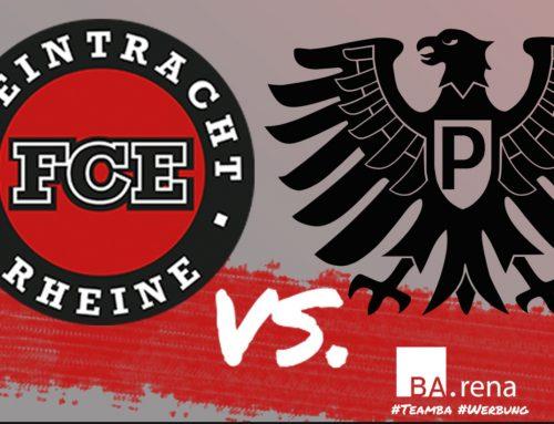 Unsere 1. Mannschaft empfängt die 1. Mannschaft von Preussen Münster